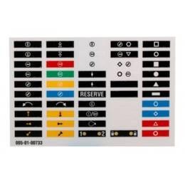 štítky na vysílač quadrix, keynote, barevné