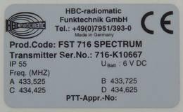 typový štítek na FSS